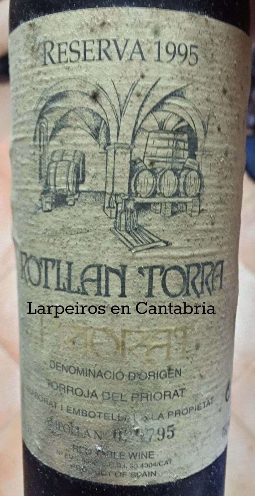 Vino Tinto Rotllan Torra Reserva 1995: Qué Recuerdos