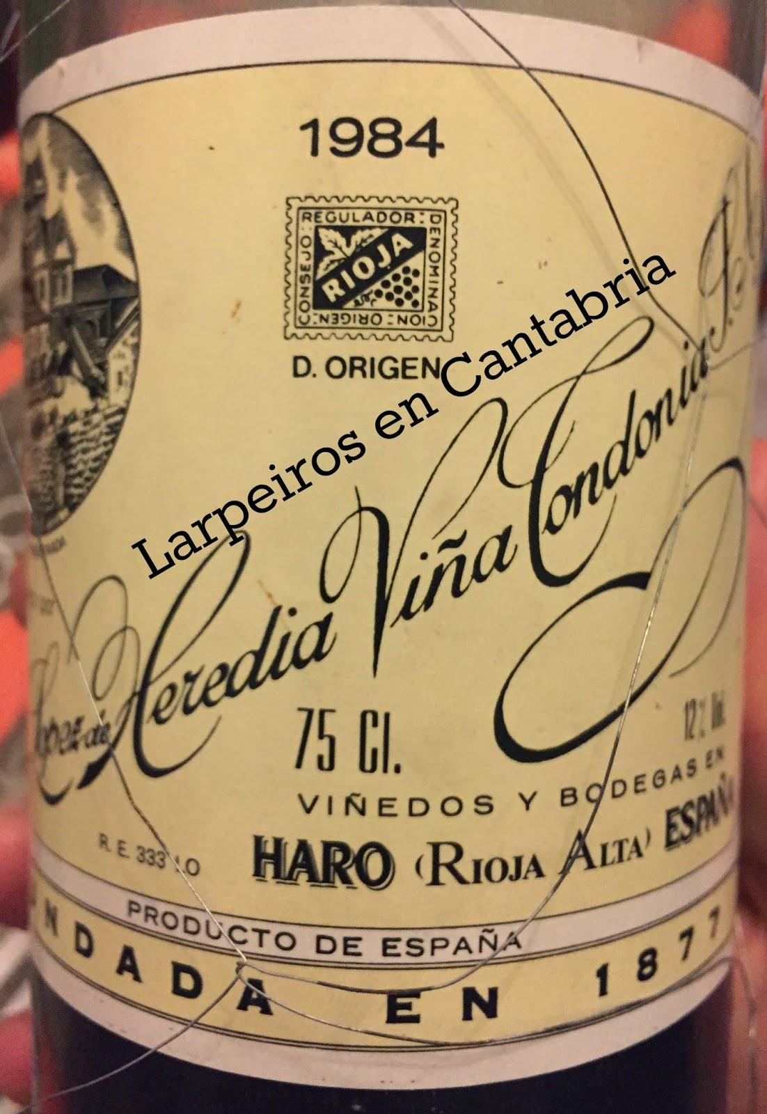 Vino Blanco Viña Tondonia de 1984: Gracias Vino-Vintage