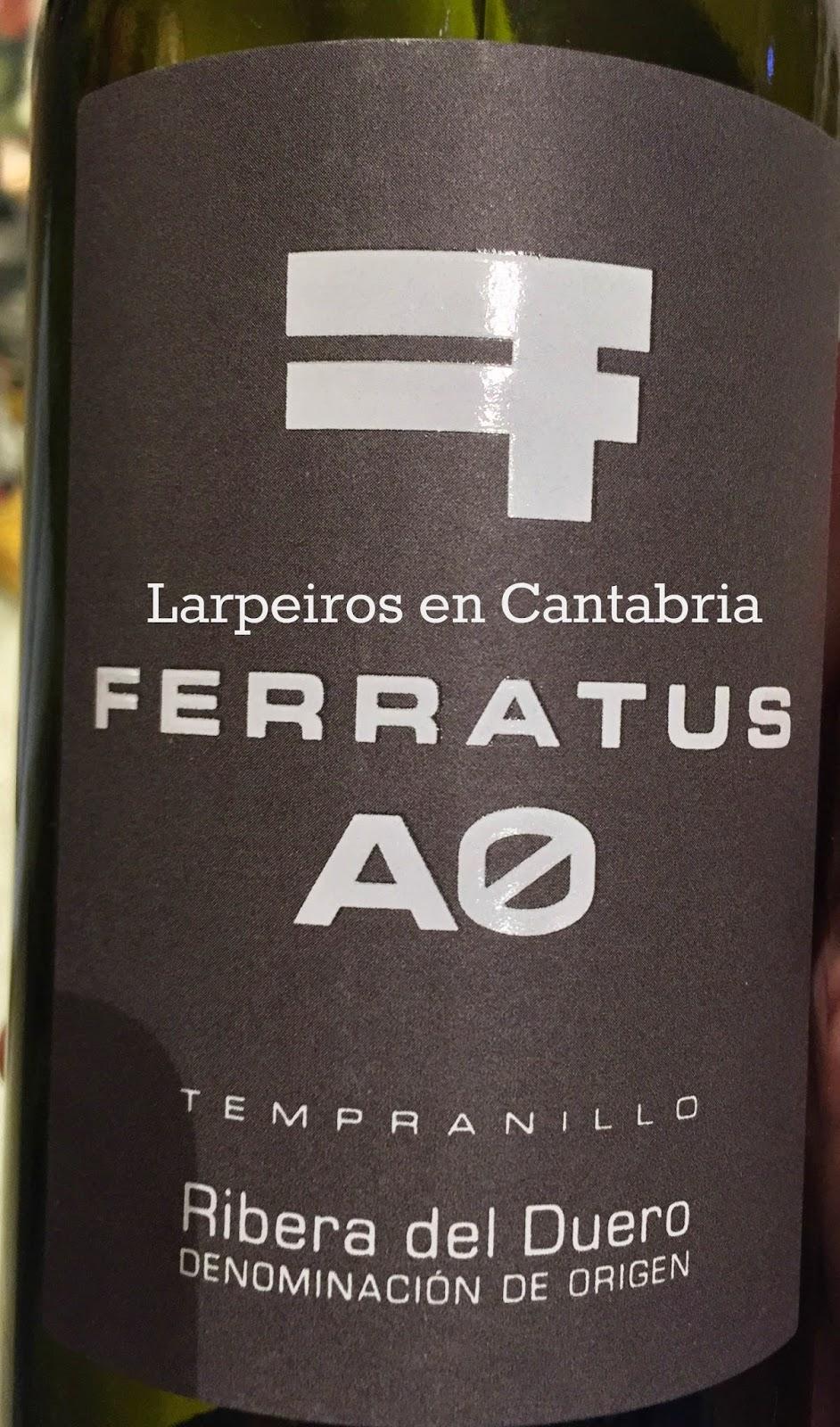 Vino Tinto Ferratus A0 2013: Fresco y directo