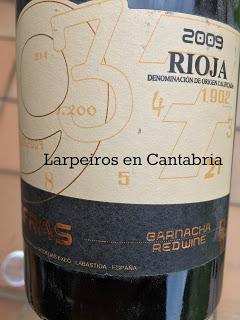 Vino Tinto Cifras 2009: Garnacho de Labastida