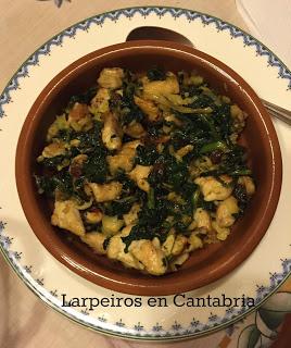 Cazuela de Pollo al Curry con Espinacas