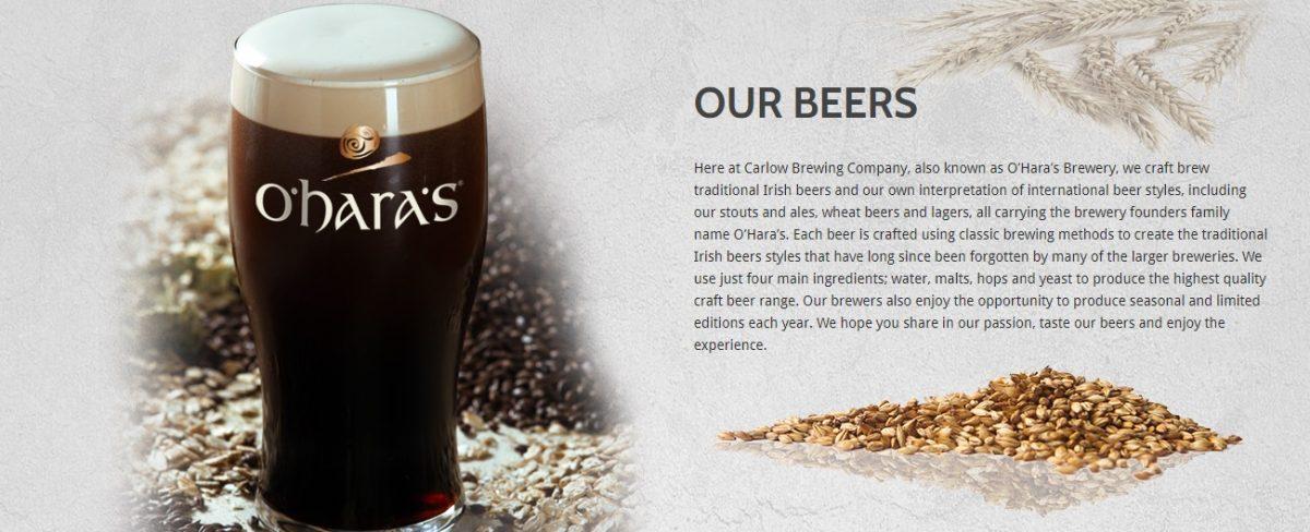 Cerveza O´Hara´s Irish Stout